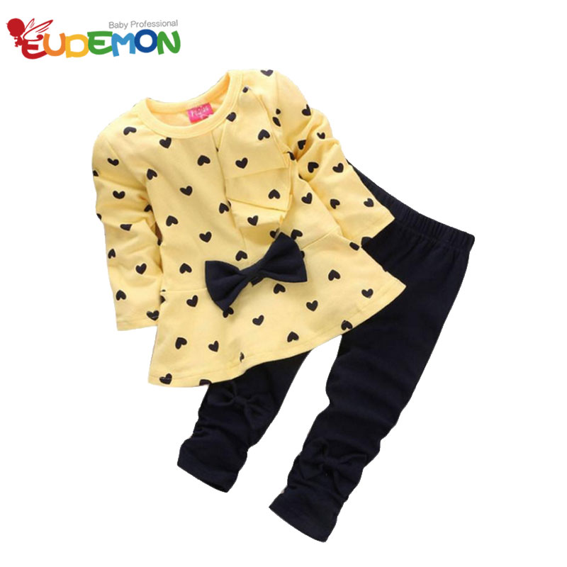Eudemon New Girls Clothing Sets Long Sleeves Clothes Pants Girl Kids Sets Soft Cotton Material