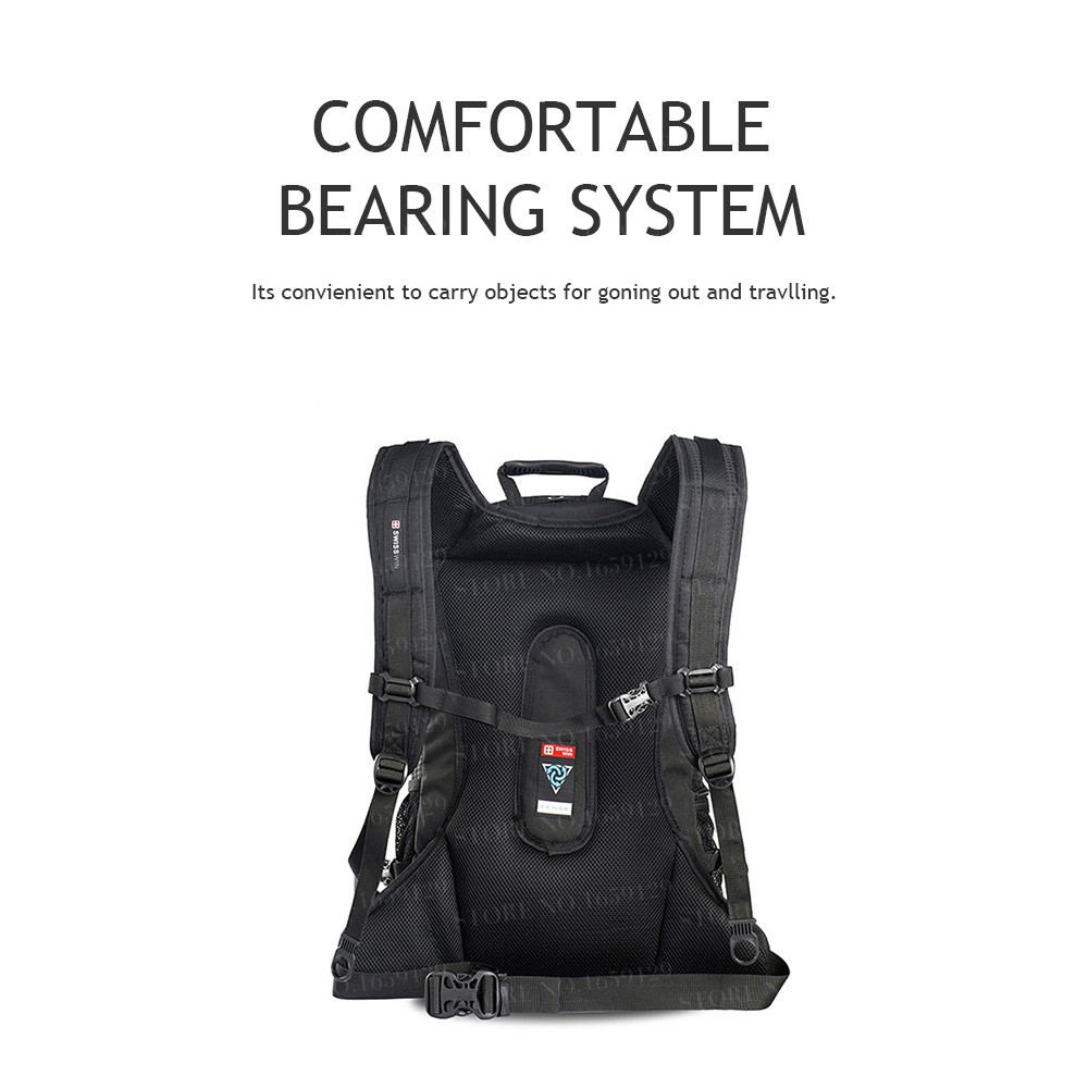 c2097a3a77 Swisswin travel laptop backpack for 15.6 inch notebook business bag ...