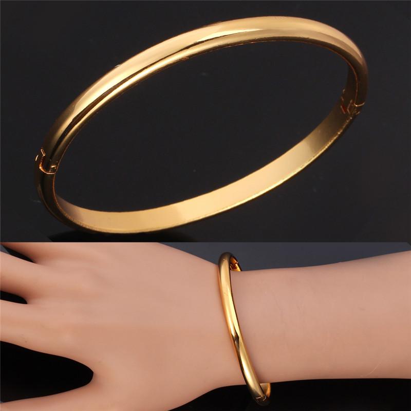 Aliexpress.com : Buy 18K Gold Bangle For Women / Men ...
