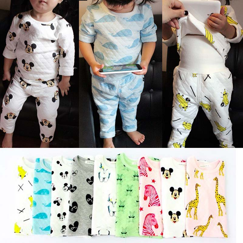 BBK mini rodini boys and girls all cotton underwear Quilted long gown of tall waist abdomen