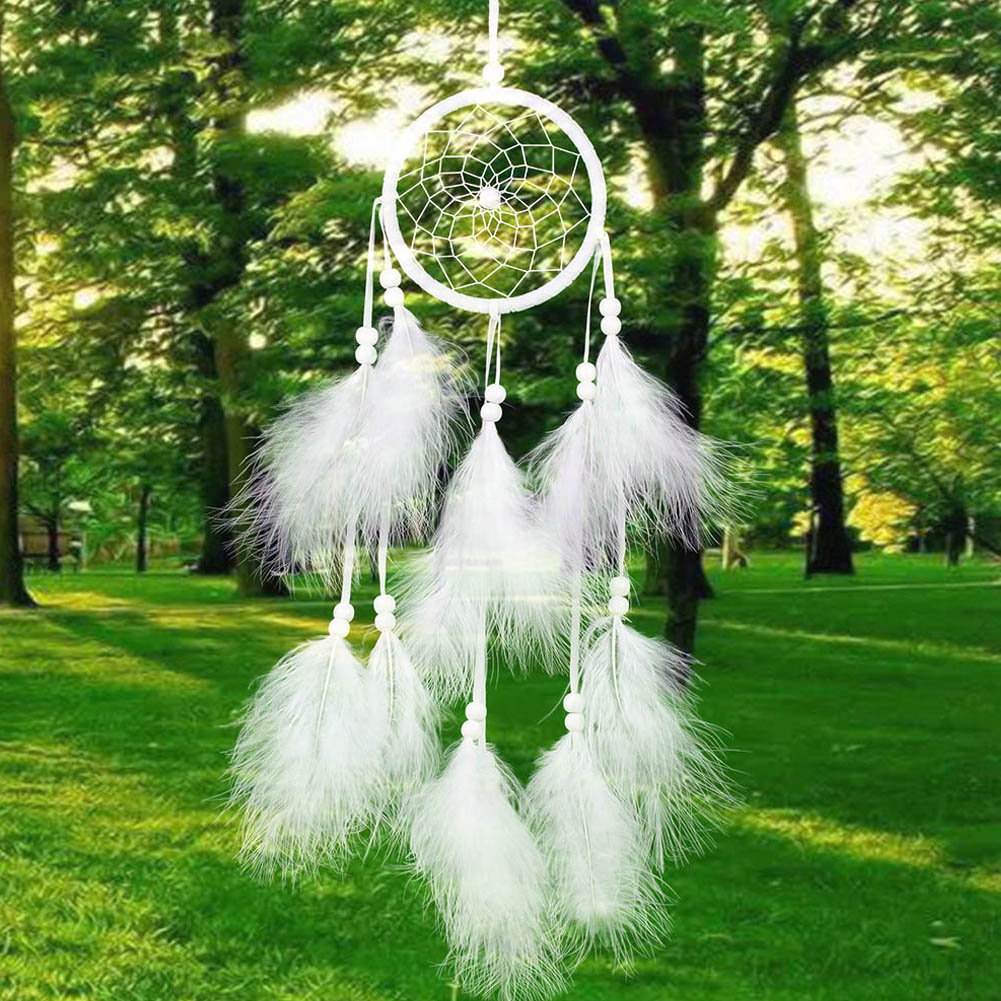 Pure White Feather Woven Dream Catcher Circular Net With: Popular India Christmas Decorations-Buy Cheap India
