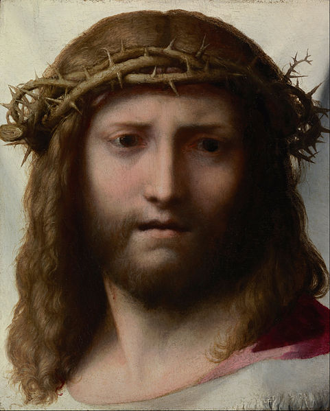 Canvas Art Prints Stretched Framed Giclee World Famous Artist Oil Painting Correggio Antonio Allegri <font><b>Italian</b></font> Head Of Christ