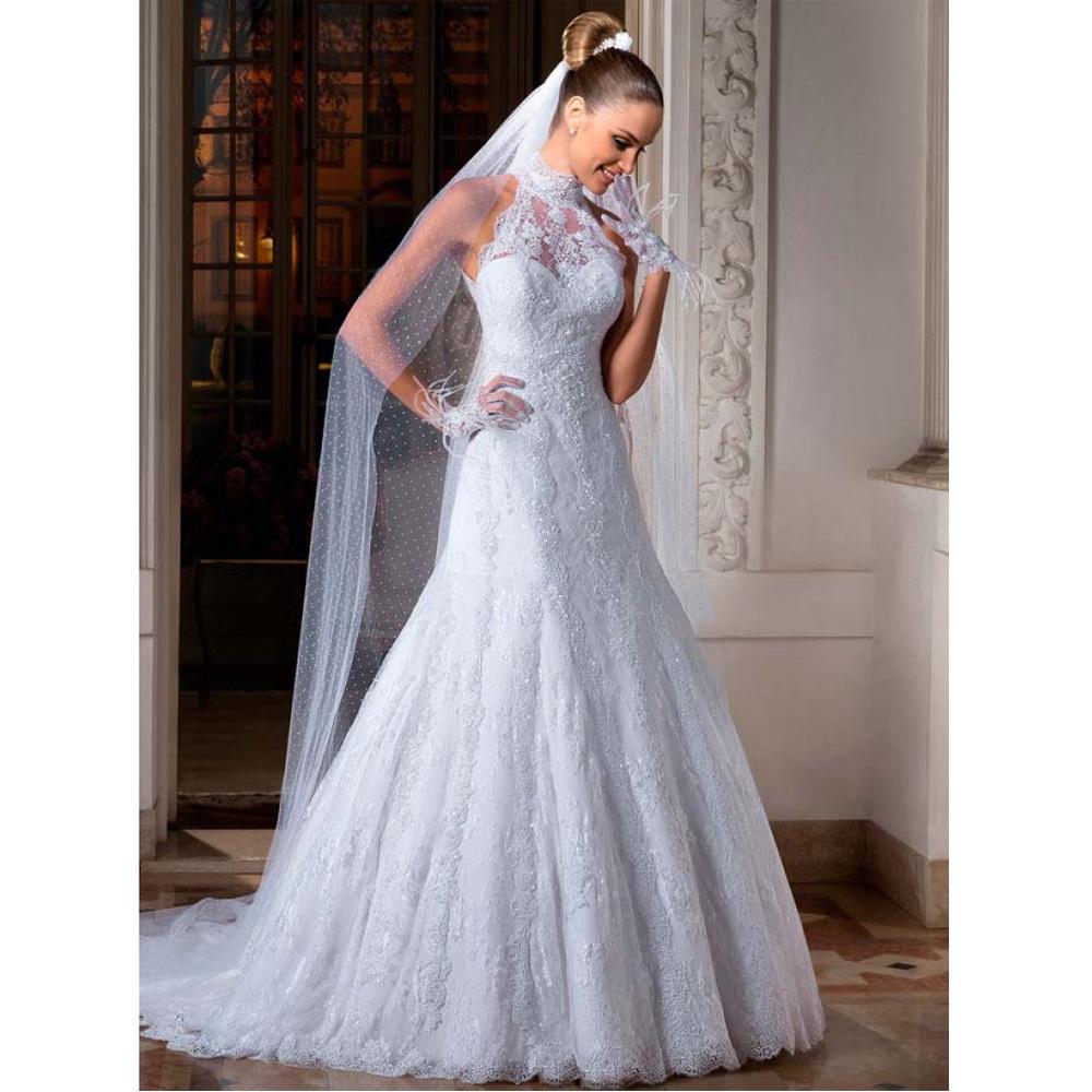 Aliexpress.com : Buy Elegant Lace High Collar Wedding
