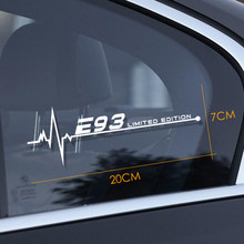 Для автомобильного стайлинга светоотражающий переводная Наклейка для окна для BMW E28 E30 E34 E36 E39 E46 E60 E61 E62 E70 E87 E53 E90 E91 E92 E93 аксессуары(Китай)
