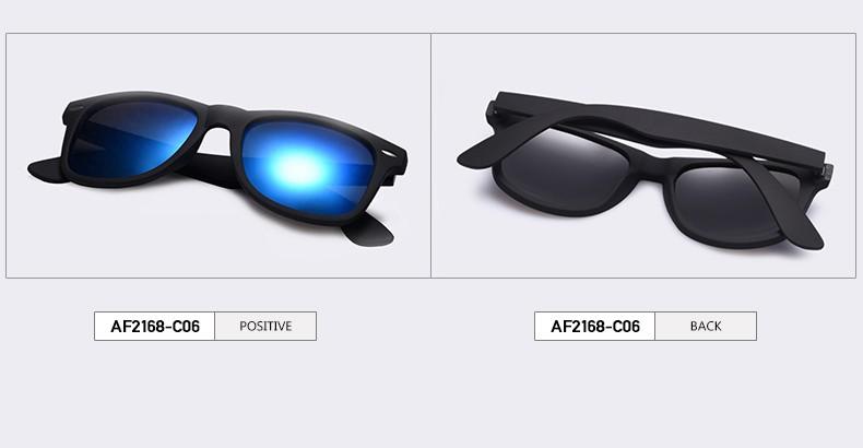 606baa66a2d0f AOFLY Fashion Sunglasses Men Polarized Sunglasses Men Driving Mirrors  Coating Points Black Frame Eyewear Male Sun Glasses UV400 AF2168