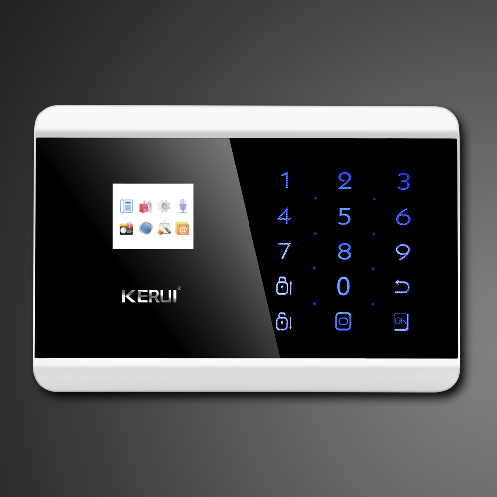kerui touch screen keypad lcd tft display wireless gsm pstn sms smart alarm system. Black Bedroom Furniture Sets. Home Design Ideas