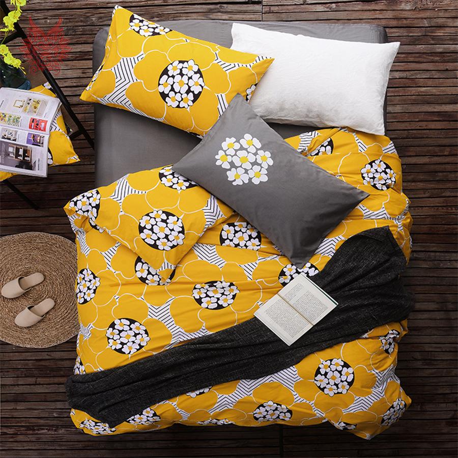 yellow floral comforter promotion shop for promotional yellow floral comforter on. Black Bedroom Furniture Sets. Home Design Ideas