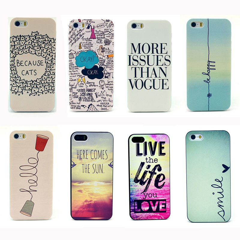 buy popular 29649 26f4a Life Style Be Happy Retro Design Cellphone Cover Trendy Nature Sun Raibow  Scenery Phone Back Case For iPhone 5s Free Shipping