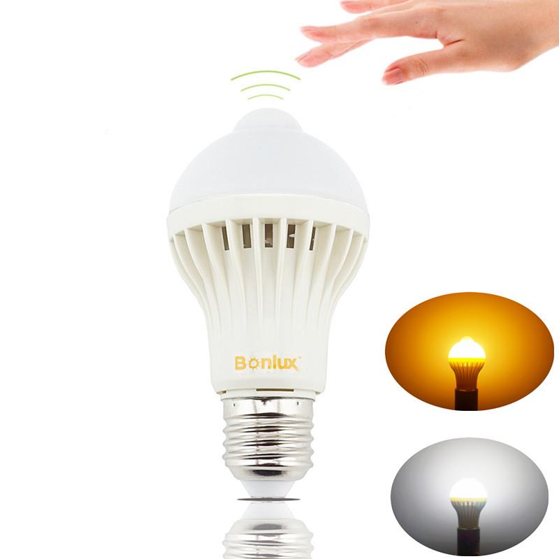 Led Pir Motion Sensor Light Bulb 5w E27 Pir Detector