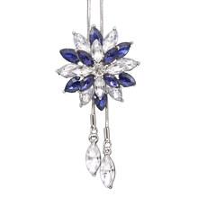 Женское модное ожерелье со снежинками и стразами, ожерелье с длинной цепочкой, ожерелье-свитер, подарок, простые классические украшения для...(Китай)