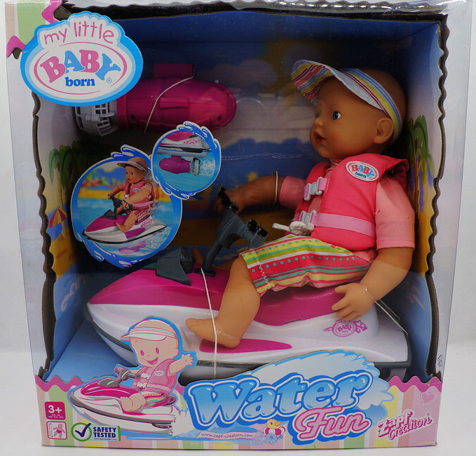Hsb Toys Zapf Creation Baby Born Water Fun Electric Motor