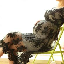 Korean East Gate Maternity Pregnant Woman Lace Embroidery Dress Two Piece Stretch Bottoming Dress Lusciousness Lithe
