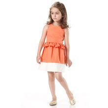 2016 Baby Girls Summer Princess Sofia Dresses Kids Girl Lotus Leaf Waist Evening Party Dress Children