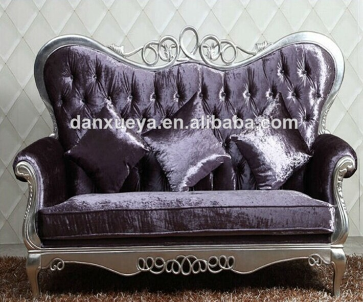 Executive Living Room Sofa Antique Wood Trim Couch Wood