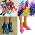 10 Pairs Princess Gown Dress Clothes High Heel Sandals Shoes Fashion Doll Shoes 2017 NEW ARRIVE