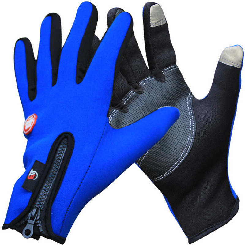 Men Bike Gloves Winter Thermal Super Warm Full Finger Cycling Glove Touch screen
