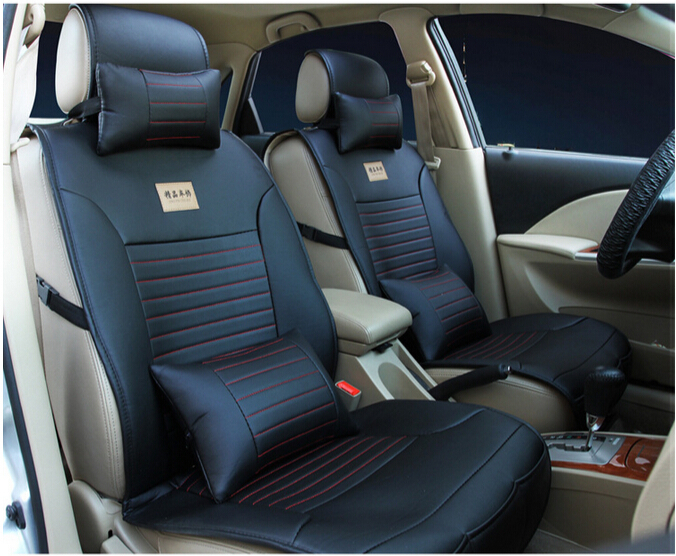 sale pu leather car seat covers set top quality for 5 seats car seat cases easy cleaning with. Black Bedroom Furniture Sets. Home Design Ideas