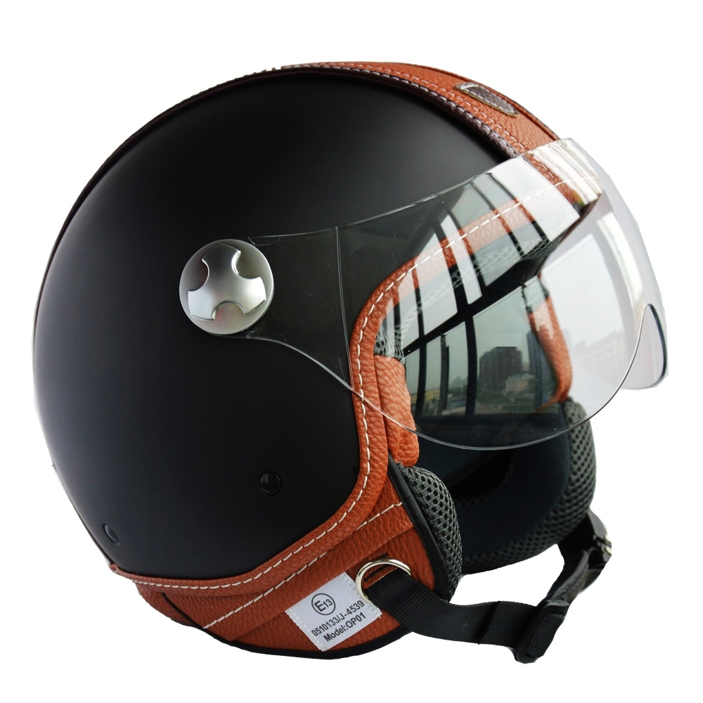 Vintage Leather Motorcycle Helmet - Lucky Mature Pussy