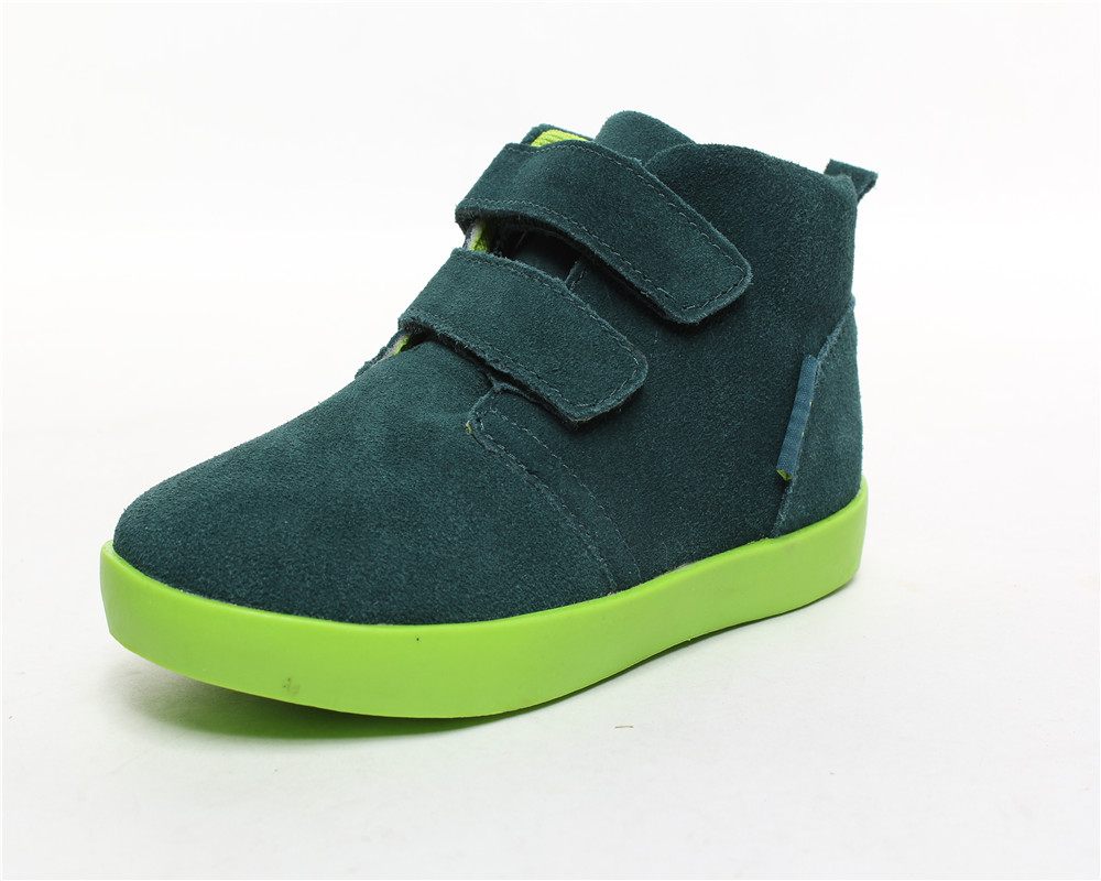 New arrival whole sale kids shoes for girl Genuine leather Cowhide high sport girl shoes
