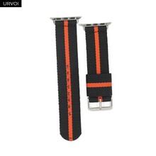 URVOI нейлоновый Плетеный ремешок для apple watch Series 4 3 2 1, ремешок для iwatch, классический стиль, черный, серебристый, адаптеры 40/44 мм(Китай)