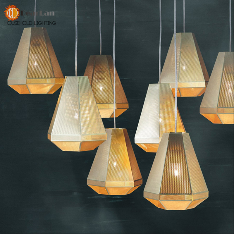 Modern Copper Tom Dixon Etch Web Pendant Lights Stainless Steel Lampshade Home Decor Lamp Fixtures Kitchen Industrial Linghting