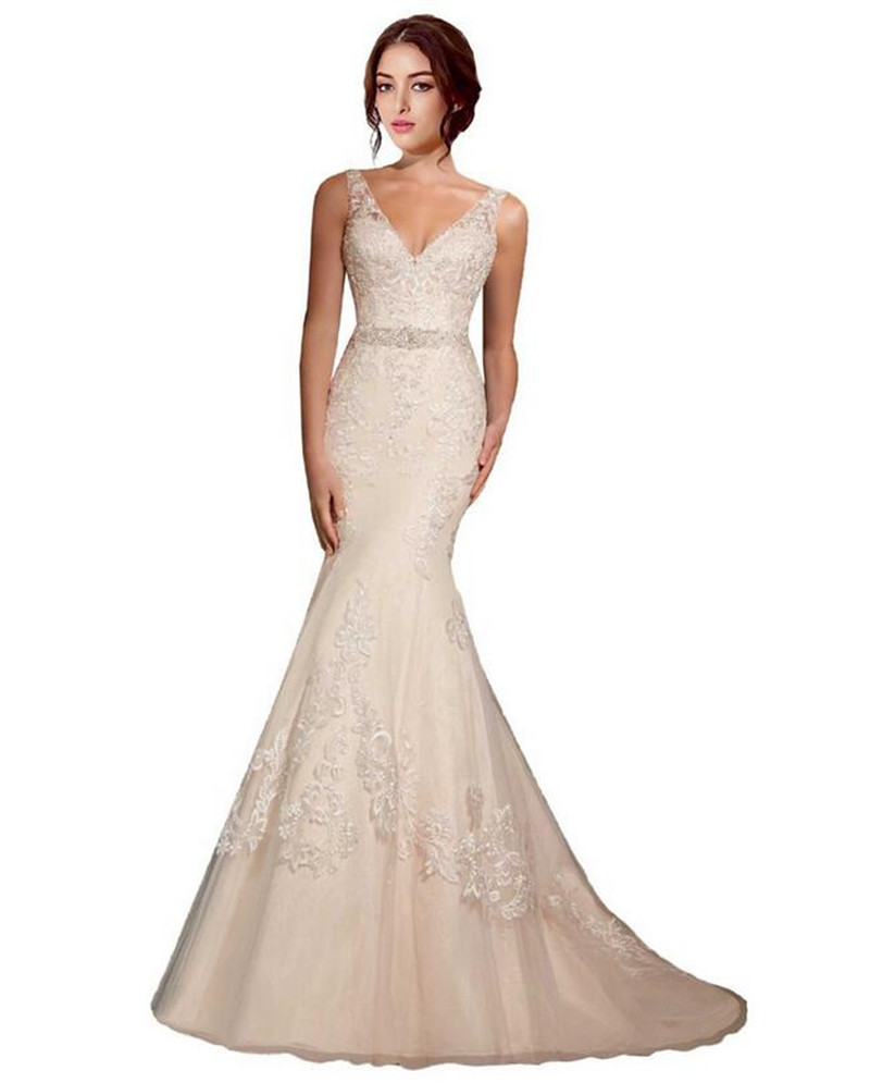 Western Style Wedding Gowns: New Style Country Western Wedding Dresses V Neck