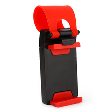 Universal Car Steering Wheel Mobile Phone Holder Rubber Band Clip Bike Cradle For iPhone 4S 5S 6 Samsung Cell Phone #iCarmo
