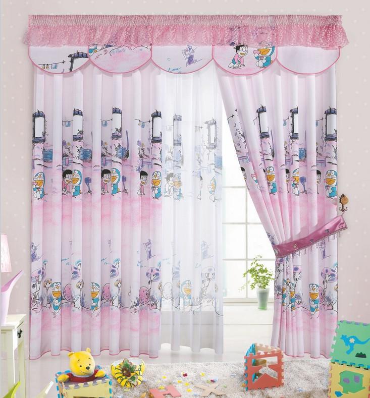 cartoon print blackout baby room curtains children girls boys kids infant soundproof cortinas. Black Bedroom Furniture Sets. Home Design Ideas