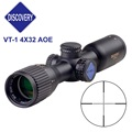 Discovery VT 1 4X32 AOE Tectical Gear Red Green Illuminated Mil Dot Reticle Riflescope Airsoft Red