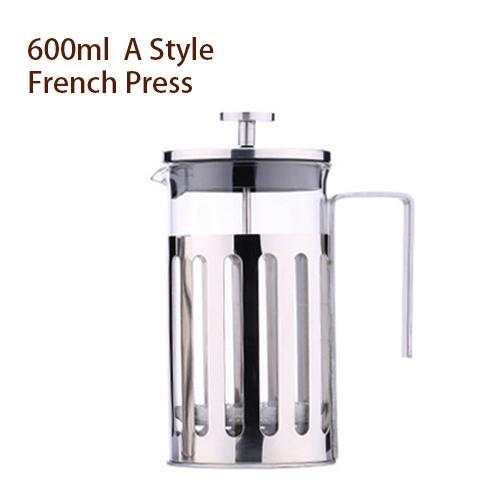 350 600 1000 мл ручной кофе французские прессы горшок стекло нержавеющая сталь плунжерный чай инфузер чайник фильтр бытовой Перколятор инструме...(Китай)