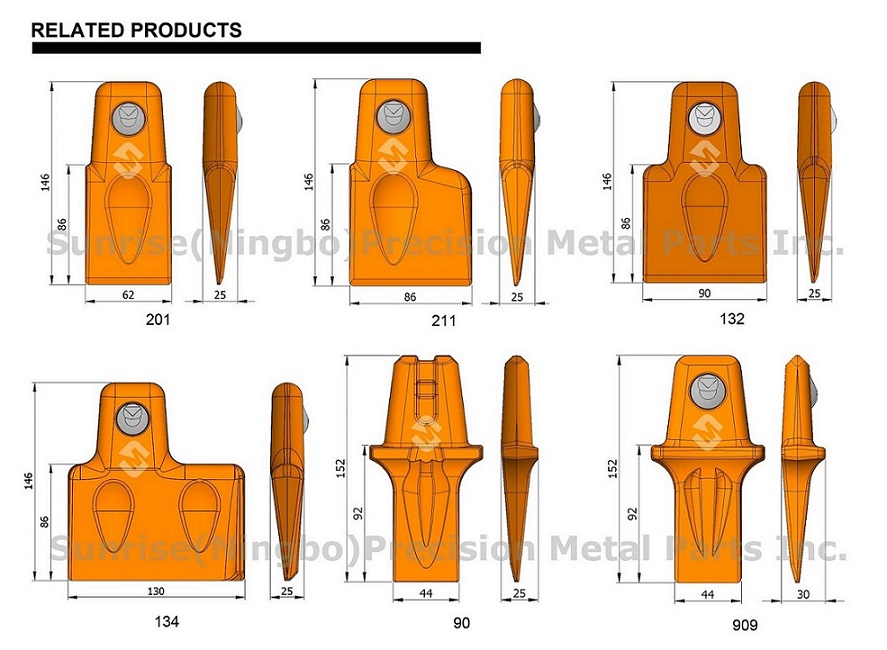 15t50 Mcmillen Auger Replacement Wear Parts Dirt Tooth Fas