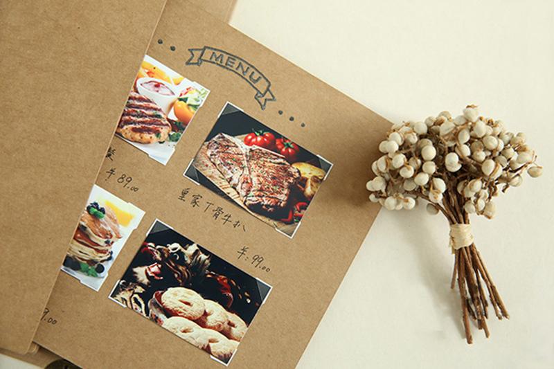 2019 onlvan diy kraft menu folders restaurant menu covers new design