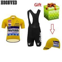 Новинка 2020 года! Новый мужской костюм для велоспорта Reynolds из джерси в стиле ретро с коротким рукавом и гелевой подкладкой 9D(Китай)