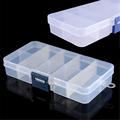High Qulaity 10 Compartments Fishing Lure Hook Bait Box Transparent Plastic Storage Container Case Fish Lure