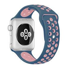 Ремешок для спортивных часов для apple watch band 4/5 42 мм/38 мм iwatch band 44 мм/40 мм силиконовый браслет дышащий ремешок для часов серии 5 4 3 2(Китай)