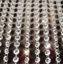 9Meters Garland Strand font b Hanging b font Crystal Glass Bead Curtain Diamond Chains Party Tree