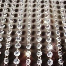 Vánoční krystalová girlanda, délka 9 m