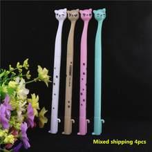 Пластиковая мультипликационная гелевая ручка 0,5 мм с милыми каваи чернилами, ручки для кошек, школьные канцелярские принадлежности для пис...(Китай)