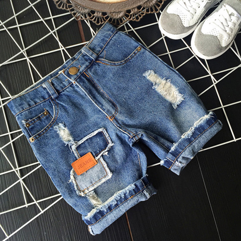 Baby Boys Hole Denim Shorts 2 7Yrs Children Clothing New 2016 Kids Pants Fashion Kids Jeans