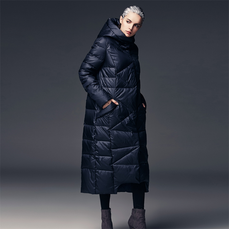 b29f7e4e02563 2019 Women S Extra Long Parkas For Women Winter Coat Warm Quilted ...