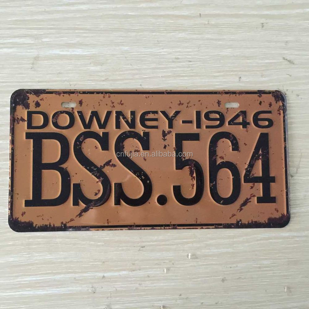 souvenir plaque d 39 immatriculation us vintage m tal plaque plaque de voiture tin plaque d. Black Bedroom Furniture Sets. Home Design Ideas