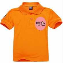 Promotions 2 14 years summer brand kids polo shirt 100 cotton boys girls children Sport cheaper