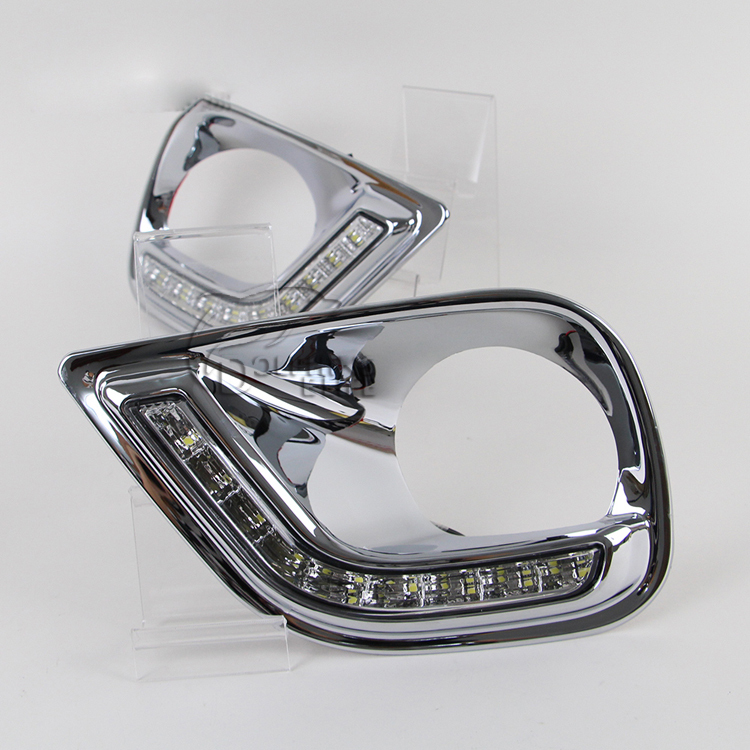 Последним для RAV4 стайлинга автомобилей из светодиодов DRL свет 13/14 дневные ходовые огни супер яркий противотуманные фары лучшее качество бесплатная доставка