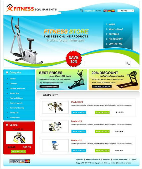 Fitness Equipment Services: Website Designing Services For Fitness Equipment Business