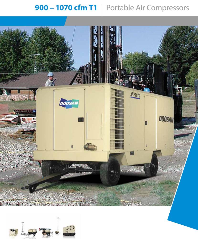 Doosan( Ingersoll Rand) Diesel portable air compressor model XHP1070WCAT-T1