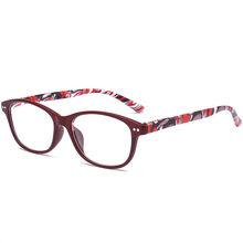 UVLAIK модные очки для чтения Для женщин Для мужчин дальнозоркости очки Смола объектива Цветочный принт + 1,0 1,5 2,0 2,5 3,0 3,5 4,0(Китай)