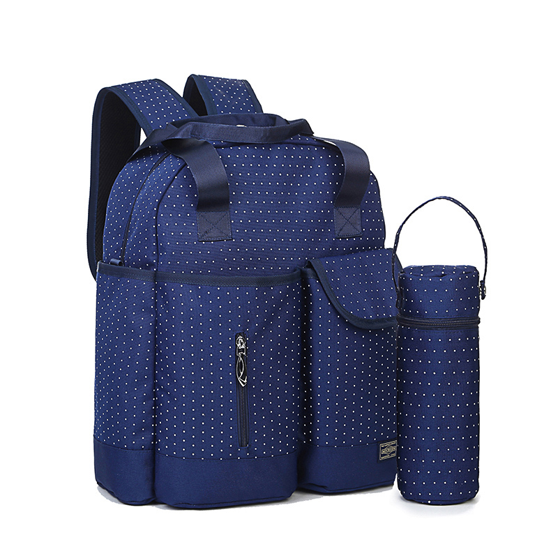2016 fashion baby care nappy changing maternity bag baby Mummy Bag Backpack waterproof bulk pregnant mother package black
