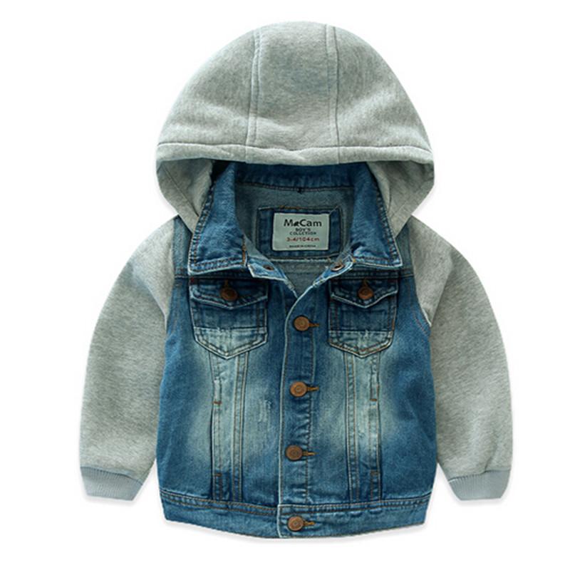Buy 2016 Kids Boy Jean Jacket Hooded Cotton Oxford Outwear
