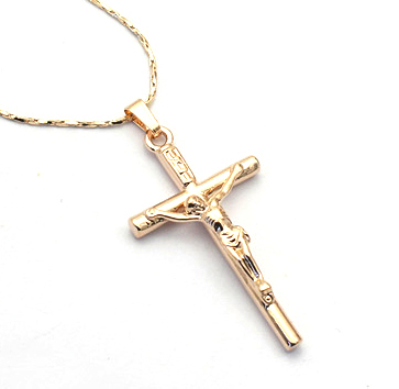 free shippingsword gold cross necklace for womencross