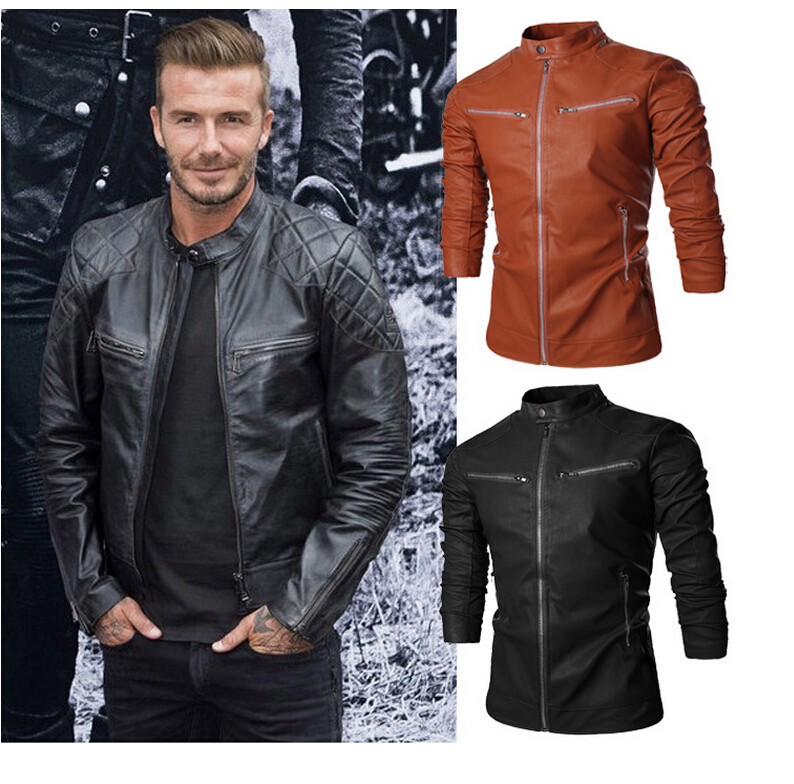 Mens black leather look jacket size small. This jacket has only been worn a few times so is in excellent condition. It has a hood which is lined with grey material, cuffed sleeves and waistband, pocke.